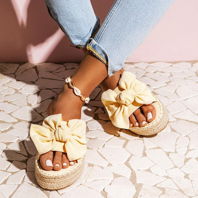 2020 Scarpe sandali di estate di modo delle donne di estate dell'arco Sandals Slipper Indoor Outdoor infradito Beach scarpe femminili Pantofole