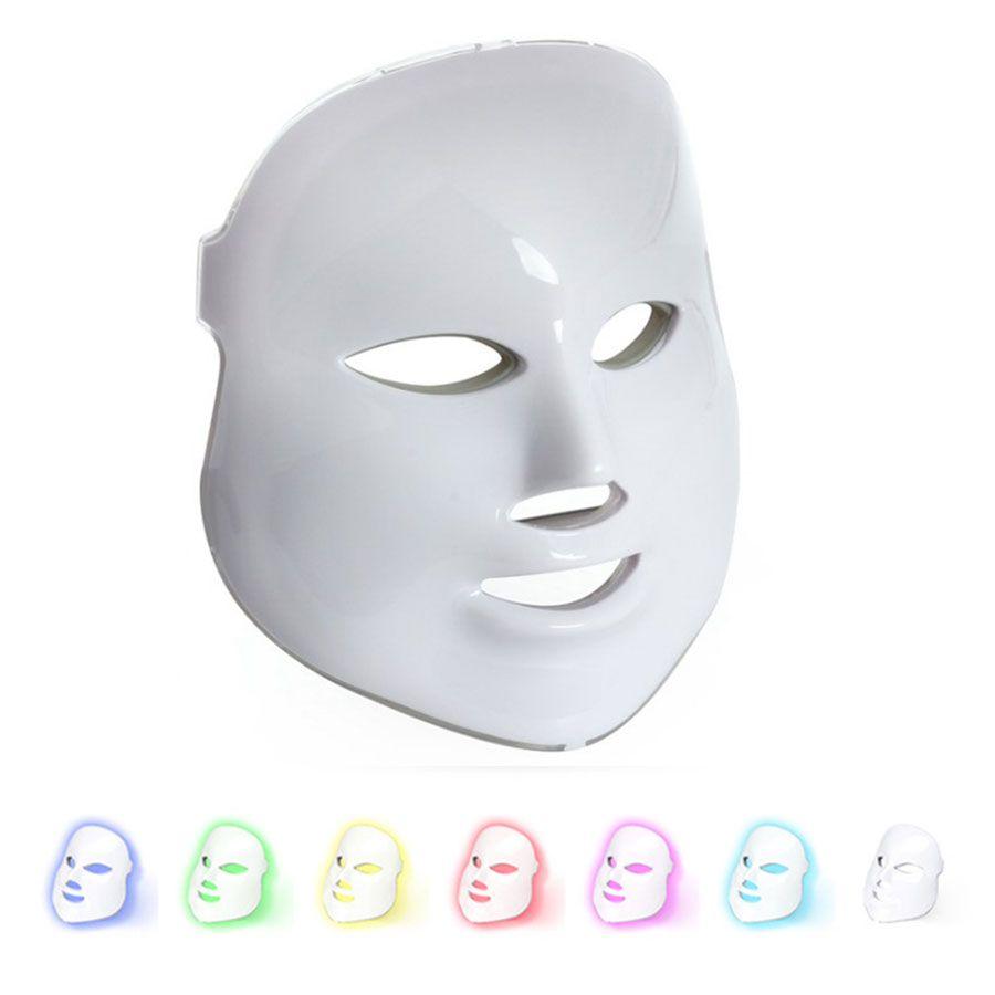 PDT Led Terapi Makine Evde Kullanım Led Yüz Maskesi 7 Renk Işık Foton Terapi Maskesi Cilt Gençleştirme Aydınlatıcı Cihazı