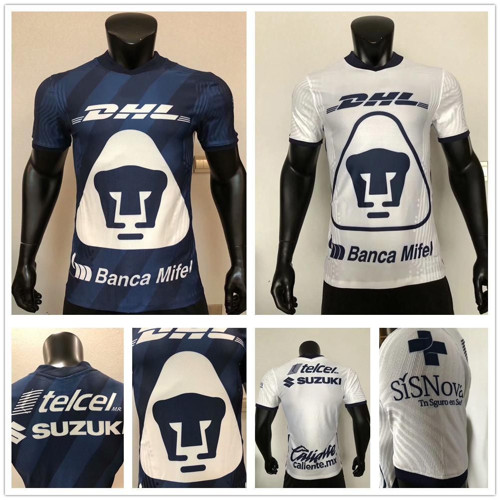 Player Version 2020 2021 MX LIGA UNAM Universidad Nacional Van Rankin Soccer Jerseys MARTINEZ BRITOS HACHITA Custom Home Away Football Shirt