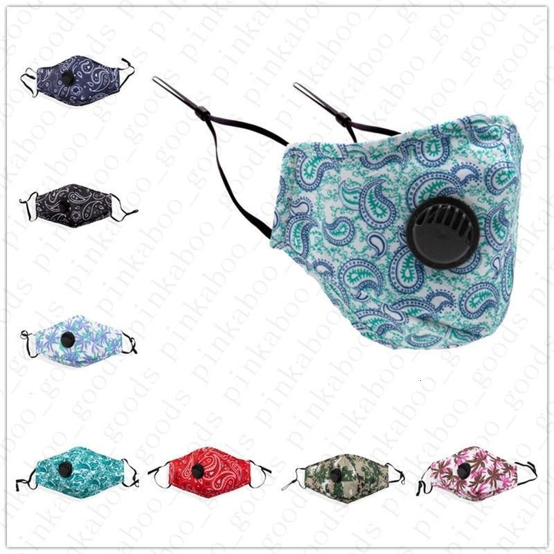 faccia cotone antipolvere adulti maschera con filtro di tasca camo stampa floreale maschere unisex Bocca antipolvere Haze Bocca-muffola 9FU5