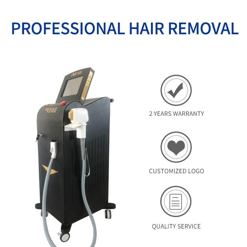 Профессиональная машина для удаления волос Диодный лазер с длиной волны 808nm три + 755nm + 1064 безболезненного быстрого удаления волос с заводской цене