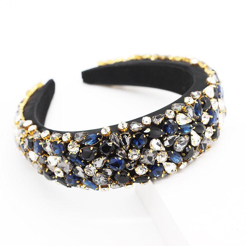 Strass cristal Bandeau pour femmes Bijoux à la mode main large Hoops cheveux perles Accessoires cheveux Serre-tête bling DHD1211