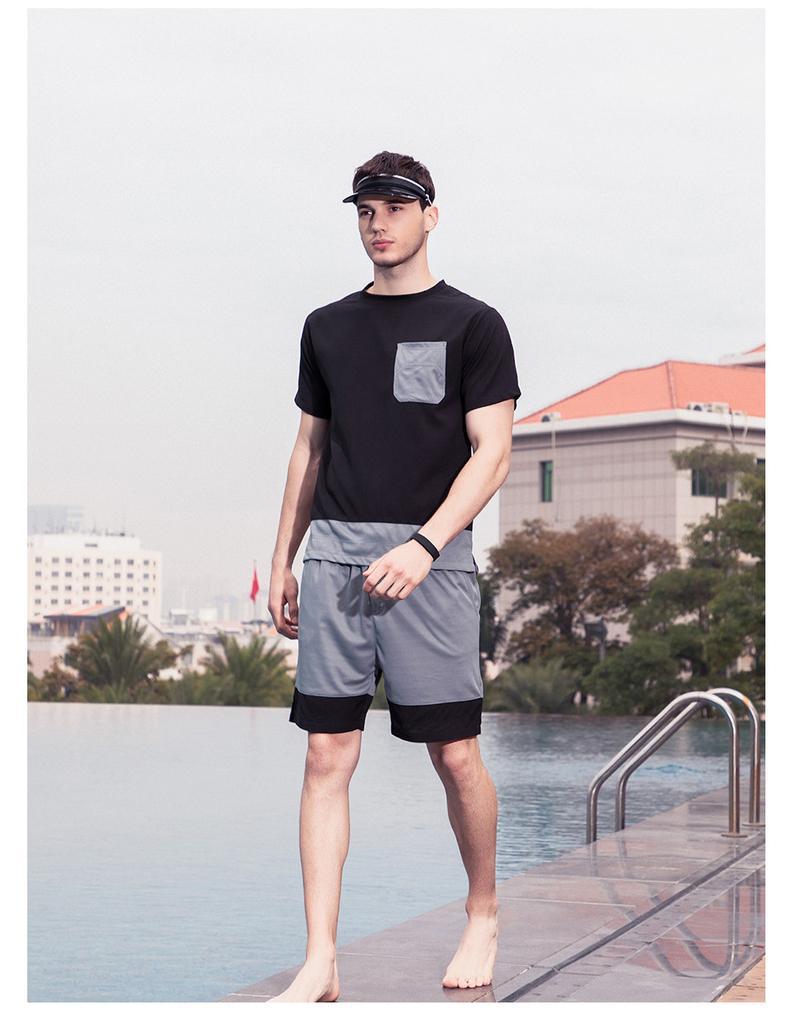 Homens Define Verão Fatos Vestuário Masculino de manga curta e ternos Shorts 2 peças impressas Set Outdoor Sports For Men