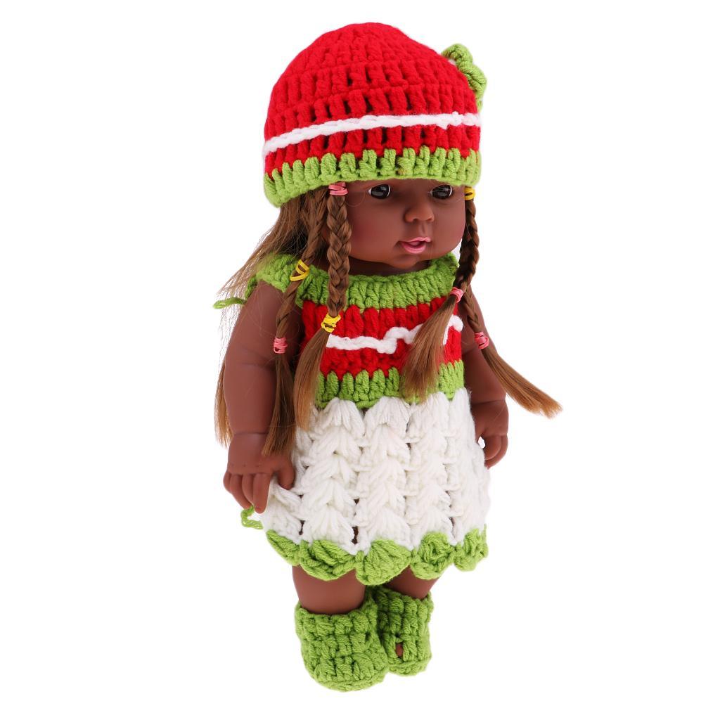 30cm vinyle Baby Doll nouveau-né fille Poupées port sans manches Robe