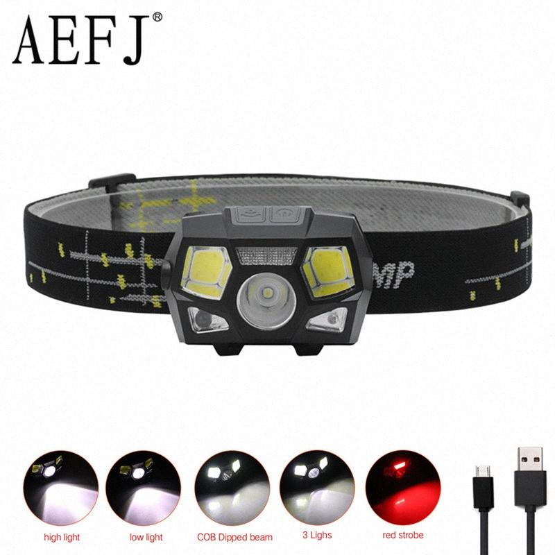 MINI LED Headlamp XPE+COB Motion Sensor Ultra Bright Hard Head Lamp Powerful Headlight USB Rechargeable Waterproof PHG3#