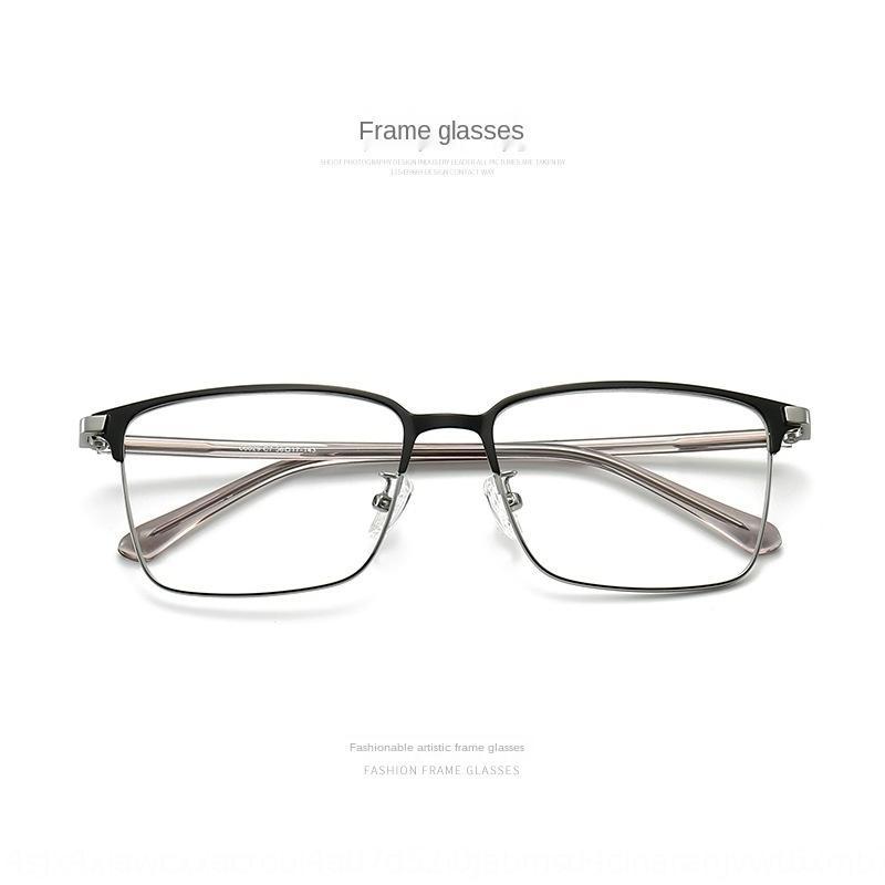 FgICV Holz kühl schwarze Rahmen Herren-Ebene der Frauen Hälfte Myopie Rahmen Brille Kurzsichtigkeit Gläser kann mit Linsen großes Gesicht ausgestattet werden