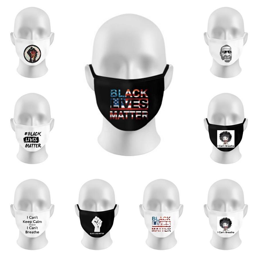 Lettera Designer Adulti maschera di protezione di 3 strati Ear-Loop polvere Bocca Maschere er non tessuto Maske respirabile morbido antipolvere Parte bambini Fa # 813