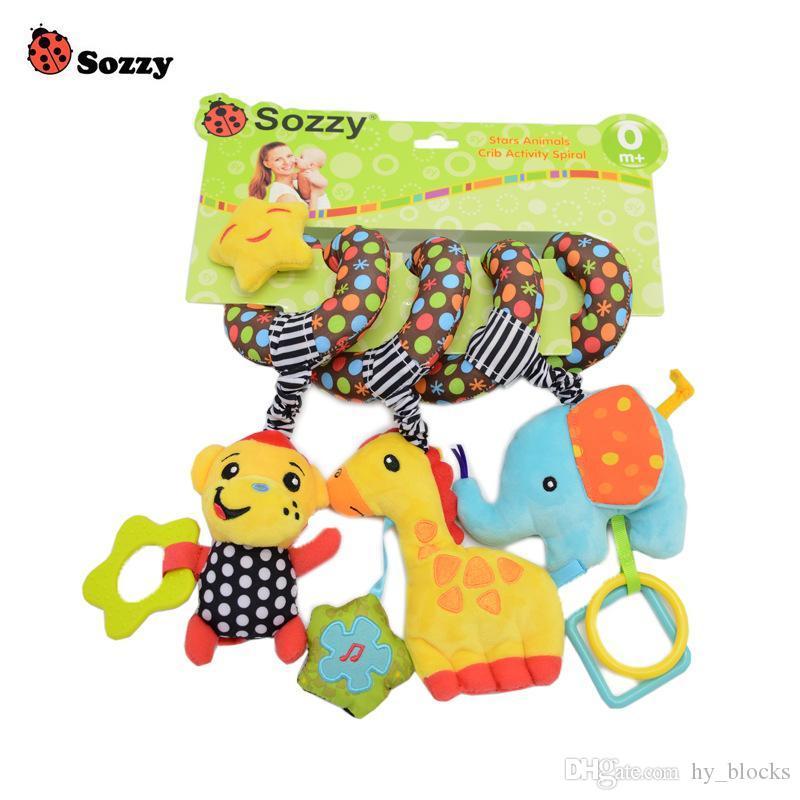 Детская кровать вокруг фриут игра погремушка висит музыкальный мультфильм кроватка милая обернутая игрушка спираль плюшевая младенца висит детское животное CMLIV