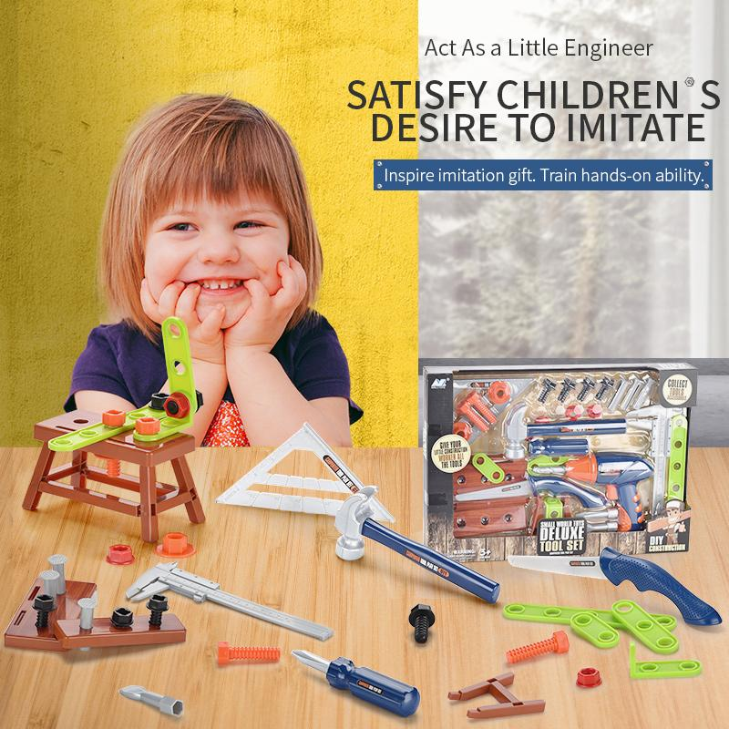 Baby play house toy carpenter tool set more accessories entertainment puzzle toy both boy and girl