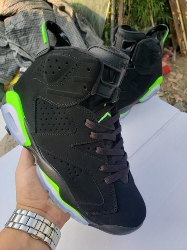 2020 New llegaron Travis Scotts 6 Og Cactus Jack que brilla en oscuridad Ejército Verde zapatos de baloncesto de los hombres de diseño 6s Deportes zapatillas de deporte