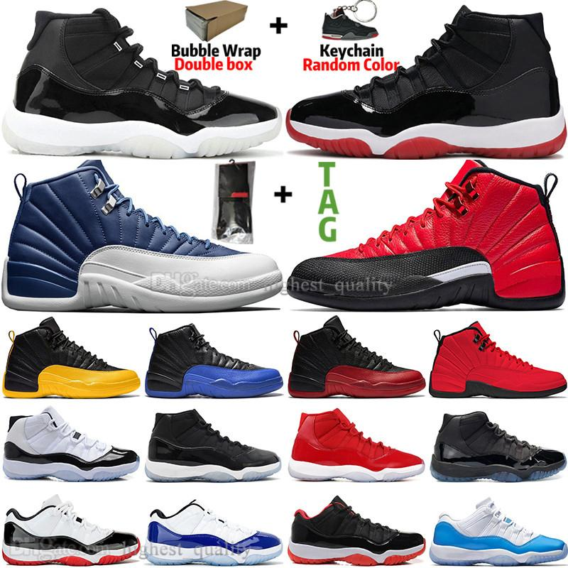 11 11s 25th Anniversary Bred Concord 45 Space Jam Gym Red Mens Basketball Shoes 12 12s Indigo Game Royal Reverse Flu Game Men Women Sneakers