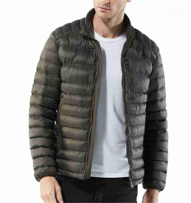 Designer Plus Size Mens de Down Moda Quente jaquetas com zíper Coats sólido colar cor dos homens do vestuário Stant