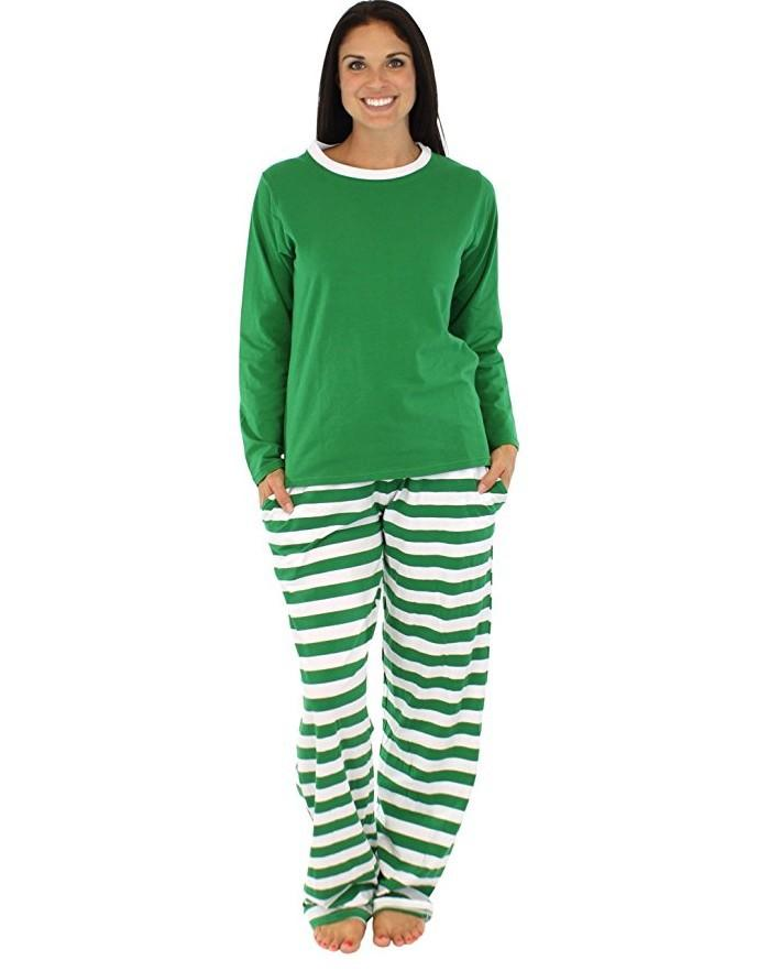 2020 Tops de loisirs à rayures chaudes de Noël Pyjamas Family Family Père mère avec fils / fille