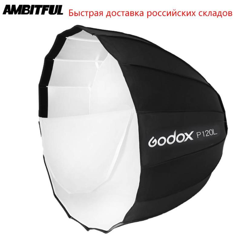 Godox Portable P120L 120cm profond Parabolique Softbox Flash Studio Speedlite réflecteur Photo Studio Bowens Mont Softbox