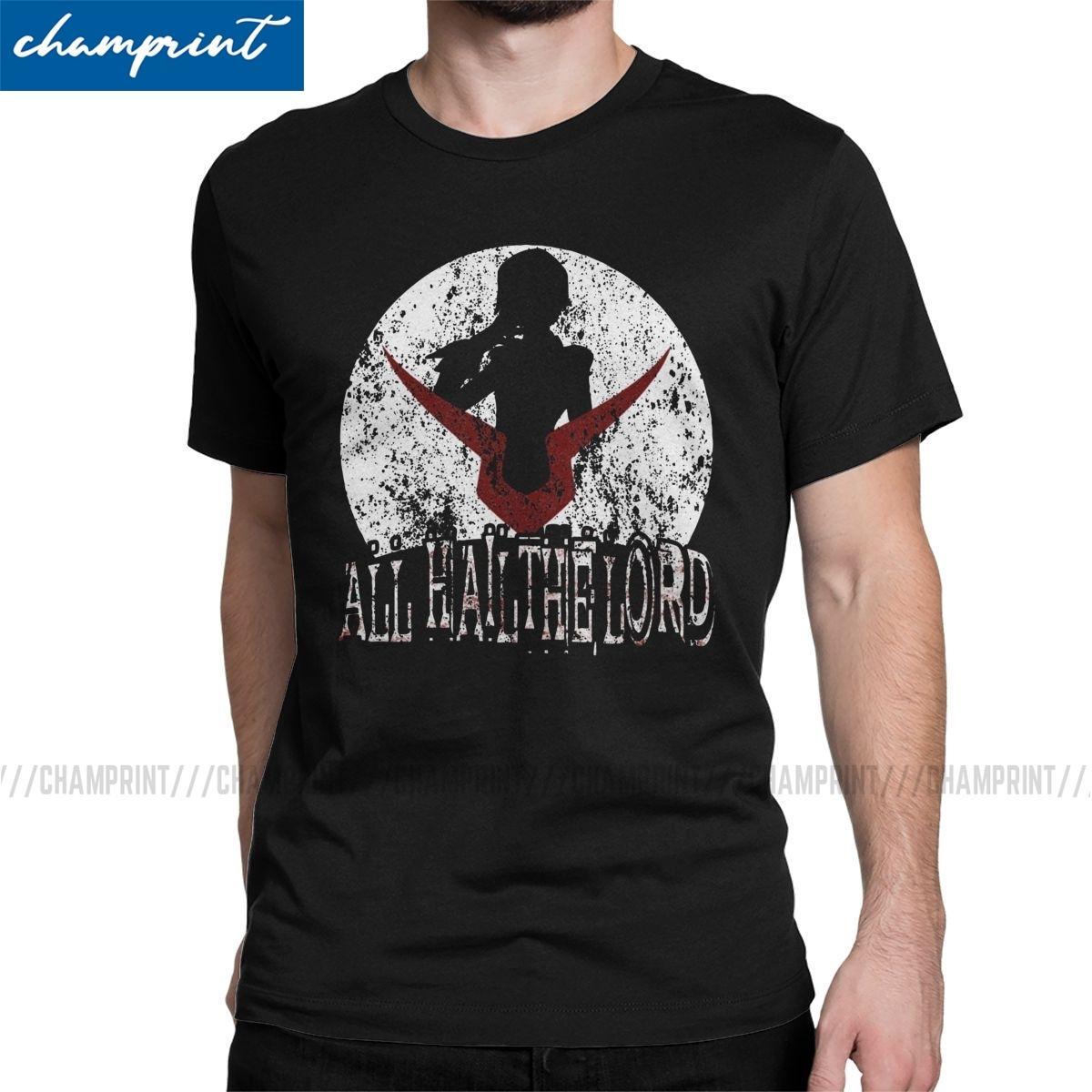 Hombres All Hail Mi Señor camiseta Código Geass Lelouch de la Rebelión animado Tops de la novedad de manga corta T-shirt de impresión camisetas