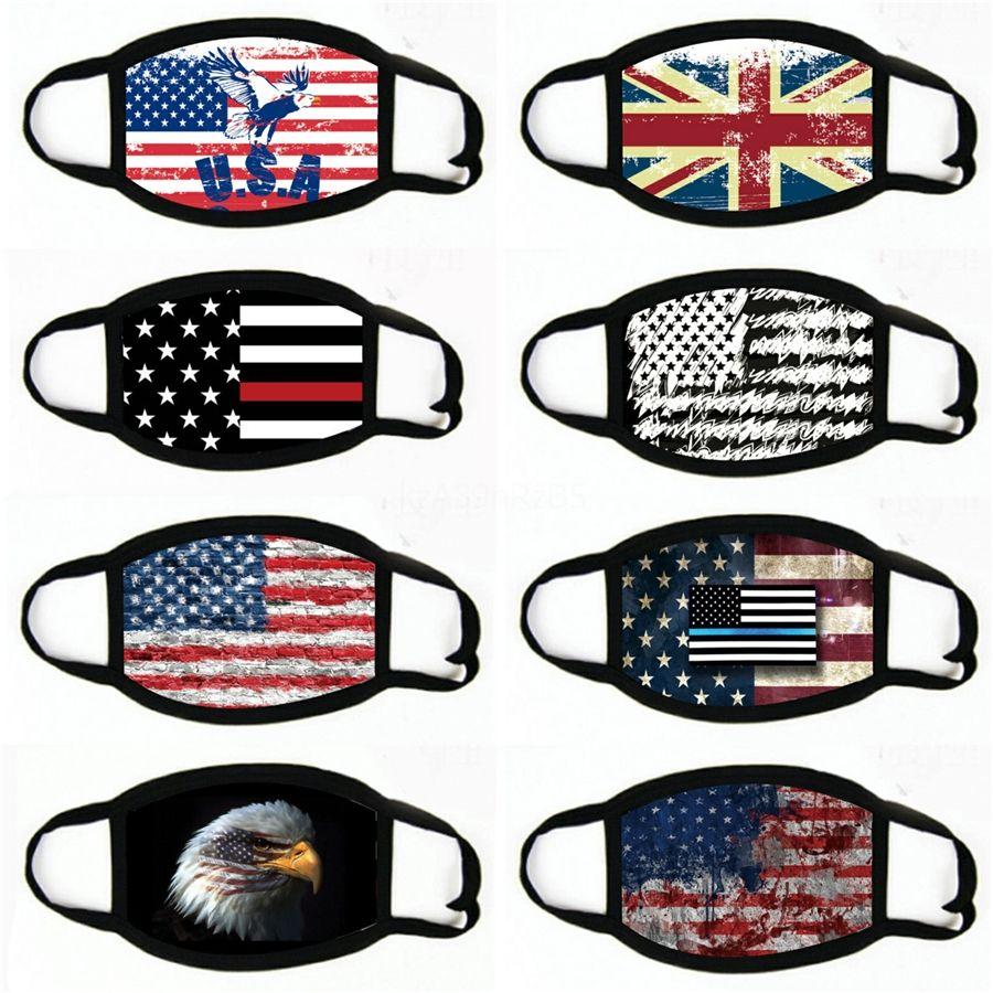 Radfahren Masken neue amerikanische Flagge Stars and Stripes Staubdichtes Laufsport Männer und Frauen Fahrrad MaskFace Maske # 573