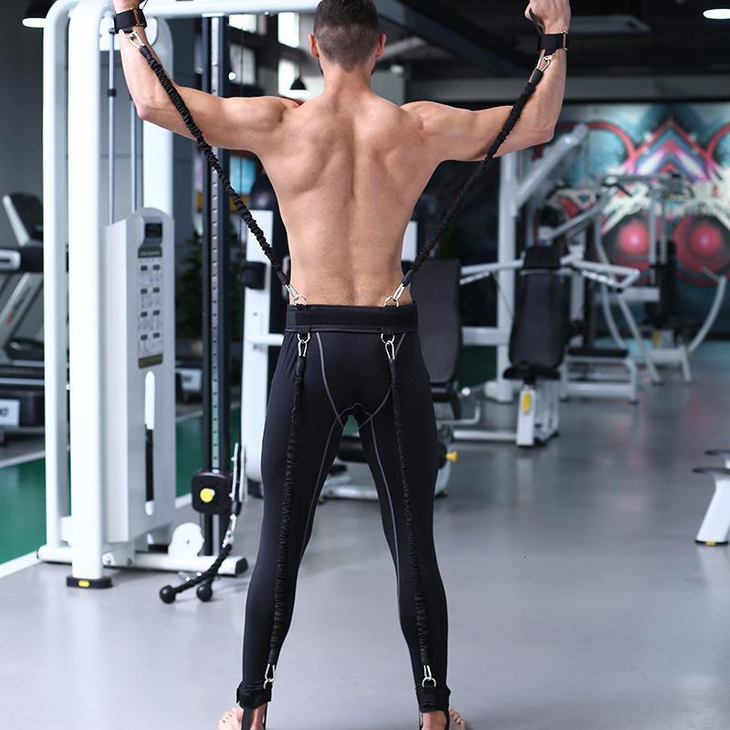 Bandas 100lbs resistência da aptidão Boxing basquetebol do Taekwondo Treinamento Pull Corda Braços Pernas Força, Equipamento Workout agilidade