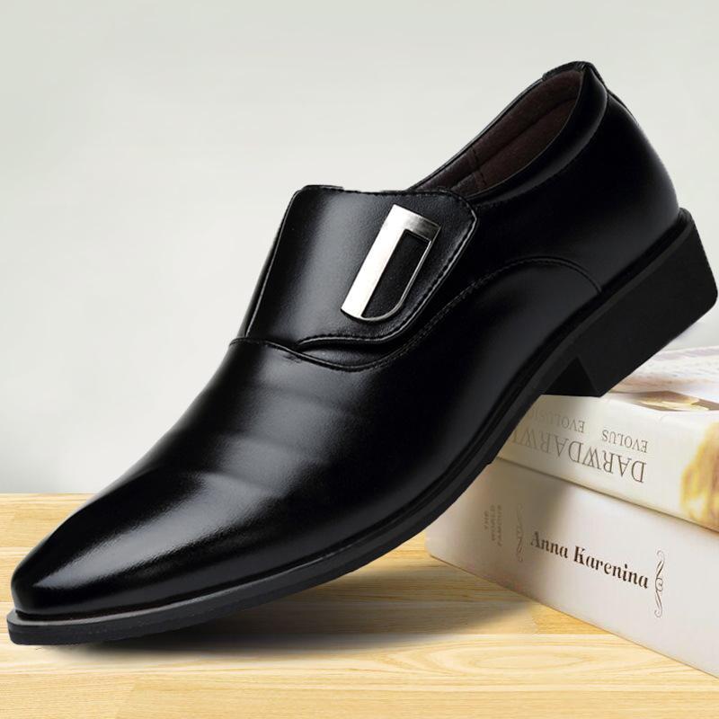 2020 Negócio de Luxo Oxford sapatos da moda casamento Formal Shoes Men mocassim escritório para os homens Preto PU Leather