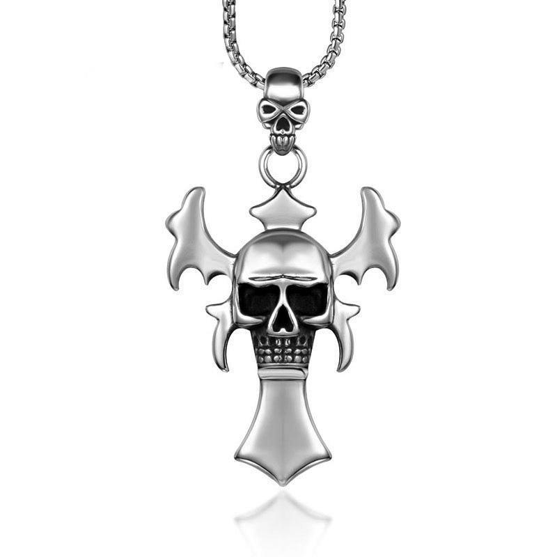 uomini gioielleria collana Bat Acciaio inossidabile vampiro collana catena di moda hip hop per il collo all'ingrosso