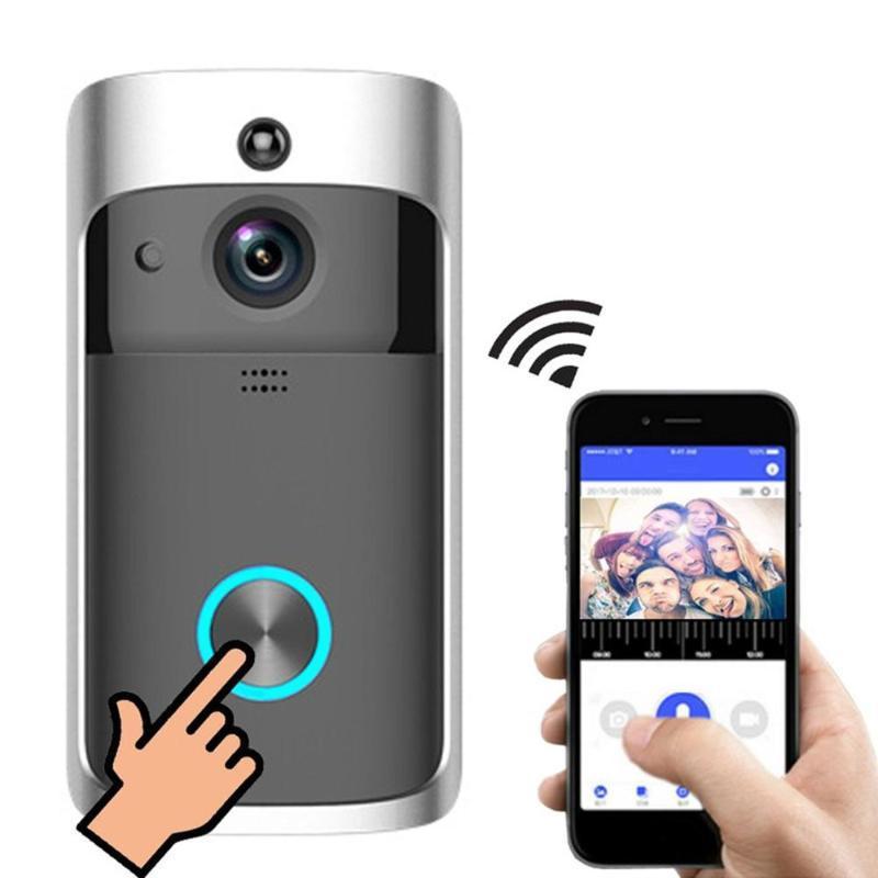 Wifi Smart Video-Türklingel Smart Wireless Tür Ring Intercom Home Security-Überwachungskamera Türklingel
