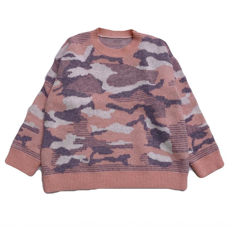camouflage en vrac vêtements pour femmes 2020 Pull-over pull-over en automne et en hiver tricot chemise creux de la vague Nouveau style coréen mode casual en plein air f
