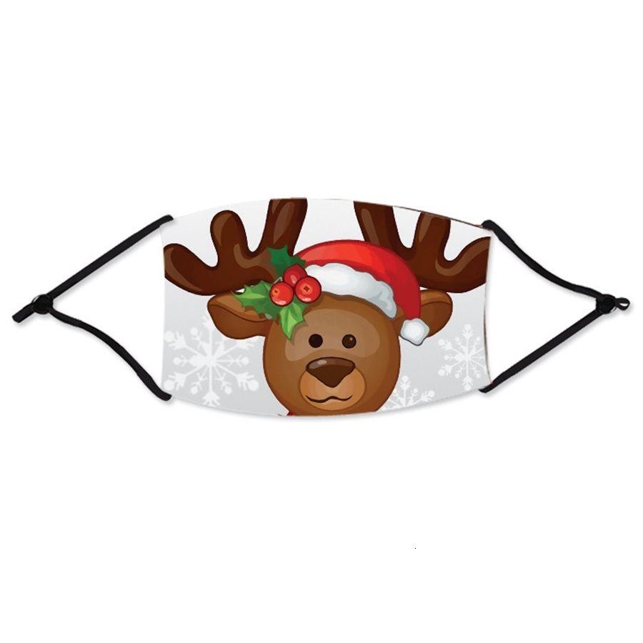 Garçons Designer Filles Cartoon Bouche Visage Masques Noël anti-poussières respirables Earloop Lavable réutilisable coton