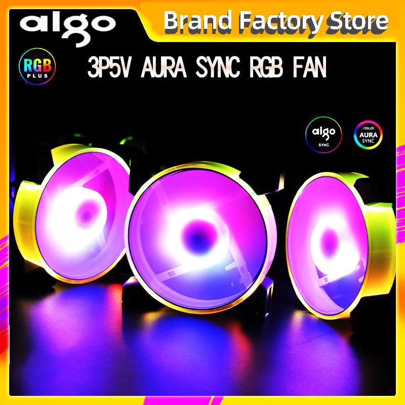 Aigo c7 3pin5v Aura синхронизации RGB Fan 120mm LED PC Корпус компьютера вентилятора Quiet CPU Cooler Cooling Регулировка скорости отключения контроллера дистанционного