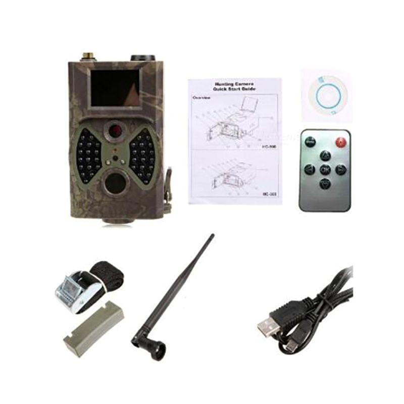 HC300M 1080P 12MP 적외선 트레일 카메라 야생 동물 사냥 나이트 비전 비디오 카메라 GPRS MMS 야외 정찰 카메라