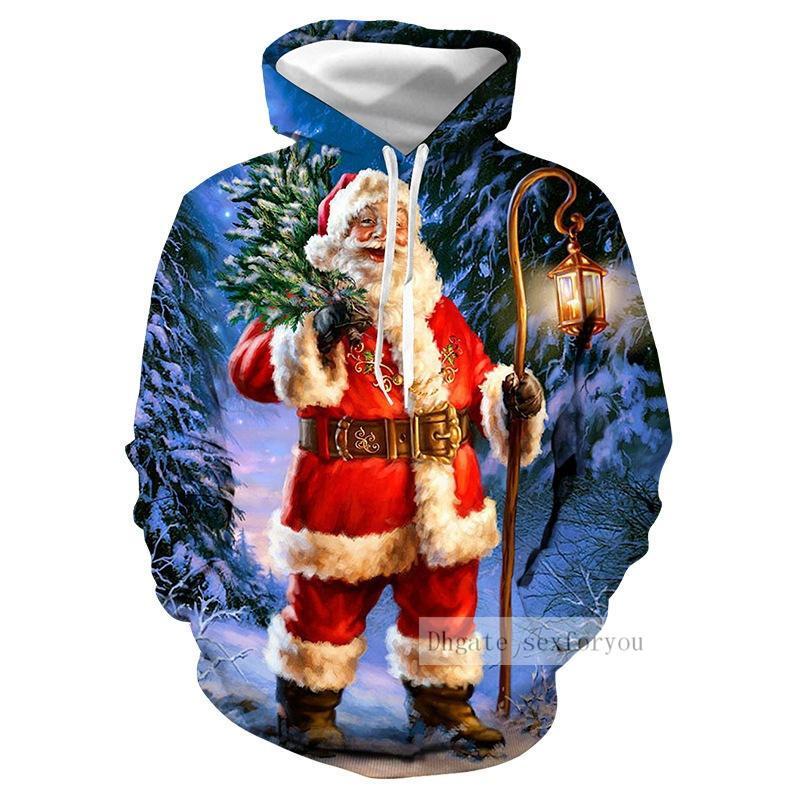 Automne et l'hiver Joyeux Noël Sweats à capuche Sweats Décoration de Noël Hommes Femmes Famille Casual Pull Hoodies