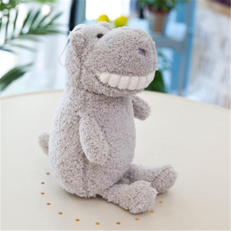 25 cm Unicornio Sonrisa con bambú grande Dientes de carbón de leña Conejo sonrisa diente peluche juguete perro mono cerdo dinosaurio juguete animal juguete ww