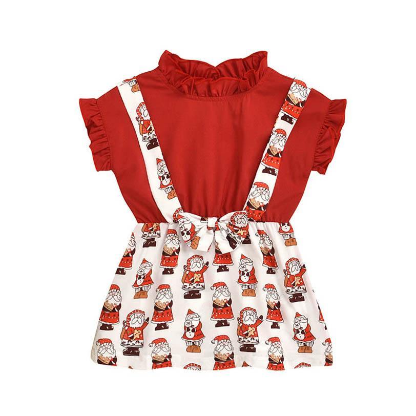 2020 новые рождественские девушки платья милый ребенок девушка платье мультфильм для малышей платья младенца девушки одежды младенца девушки дизайнер одежды B1865