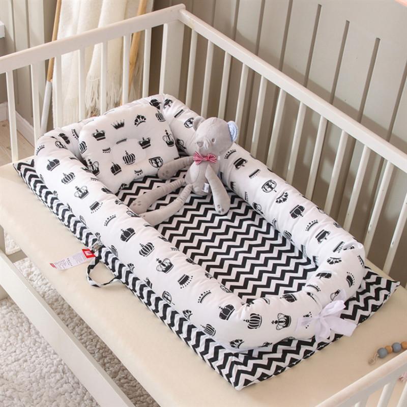 Beweglicher Baby-Bionic Bed Cotton Cradle Baby-Bassinet Auto Folding Schlaf Nest für Kleinkind Newborn Spiel-Matten-Reisebett 200919