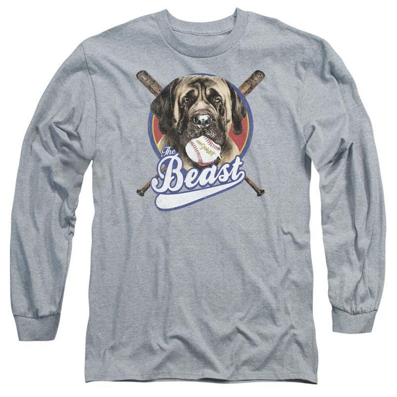 Sandlot Film Beast Resmi Lisanslı Yetişkin Uzun Kollu T-Shirt S-3XL Özel Tee Gömlek yazdır