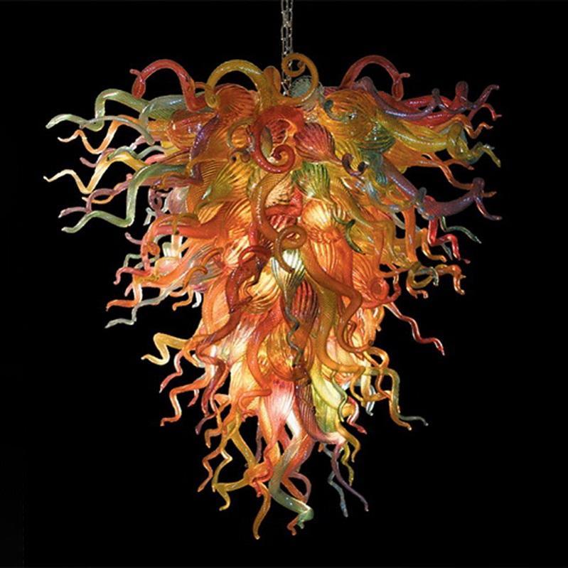 Haute qualité 100% à la main lustre en verre soufflé à l'intérieur des lumières suspensions décor art luminaire pendentif en verre