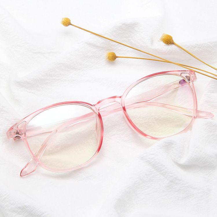 2020 Fashion Rahmen der optischen Gläser Brille mit Klarglas Männer Frauen Marke runde freie transparente Frauen-Frames