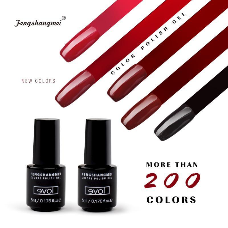 fengshangmei 5ml polishing for nails Esmalte Permanente Nail Gel Lacquer Long Lasting UV gel nagellak Easy Colored Varnish