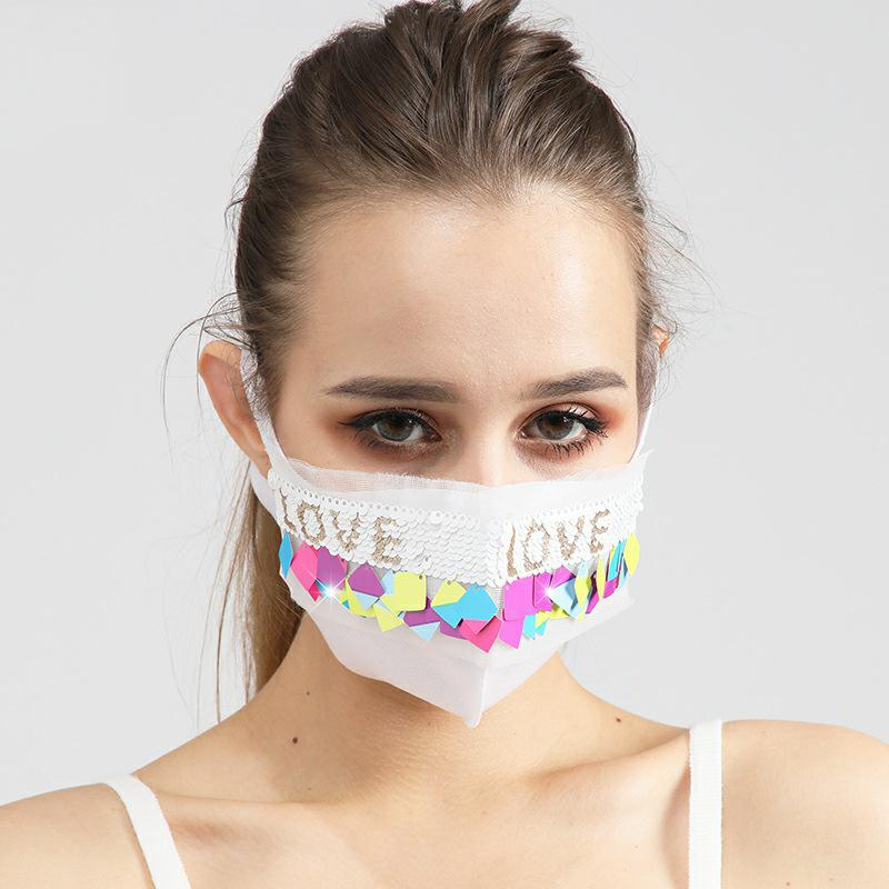 Super Soft and Comfortable Cotton Fashion Women Anti-Dust Washable Party Decor Face Mask