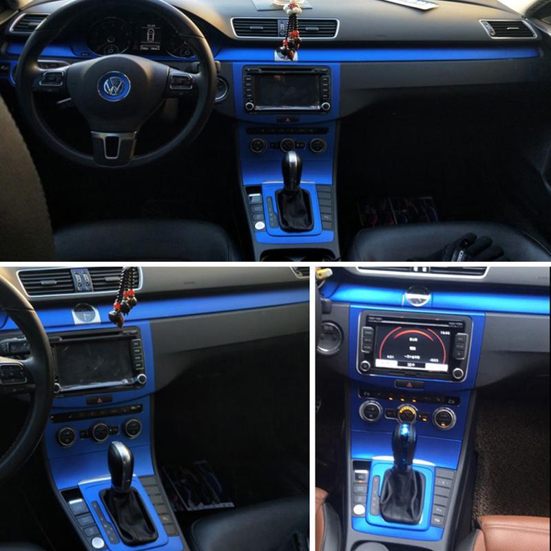 فولكس واجن فولكس فاجن CC / باسات B7 الداخلية لوحة التحكم المركزية لوحة مقبض الباب 5D ألياف الكربون ملصقات الشارات سيارة التصميم الملحقات