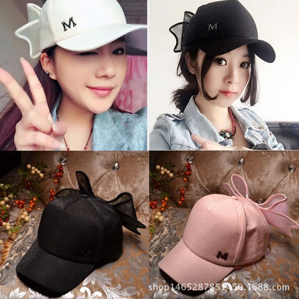 V2U18 estilo coreano nuevo sombrero curvo sombrero de los deportes al aire libre de ocio arco M sombra de béisbol gorra de béisbol del casquillo del sol sol entre padres e hijos de las mujeres