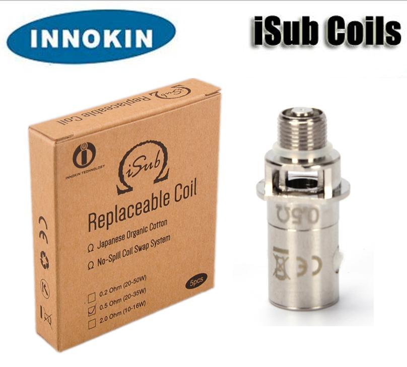 100% d'origine Innokin ITaste iSub bobines sous forme de bobine ohm 0,2 / 0,5 / 2.0ohm pour réservoir iSub atomiseur DHL