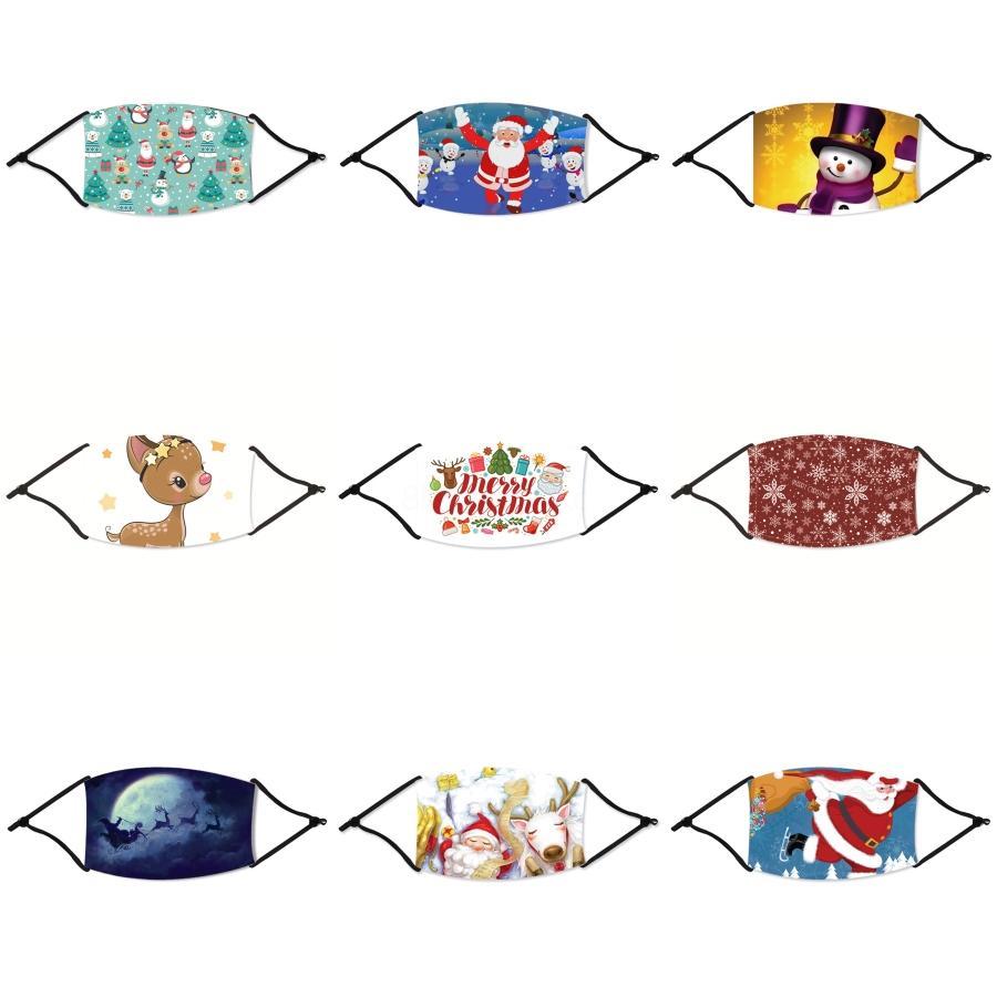 Navidad de los niños 3d máscara de 5 capas de máscaras faciales de dibujos animados de Navidad con filtro Máscaras Válvula de ventilación del polvo anti Navidad Niños a prueba de polvo Prot # 660