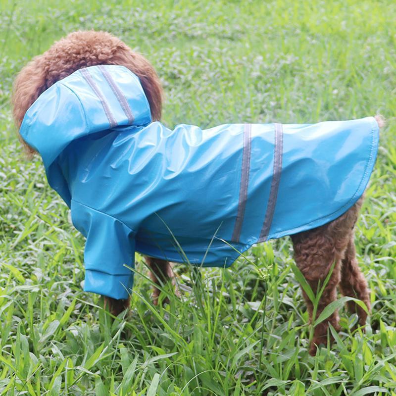 Roupa à prova d 'água do vestuário do cão Cachorrinho ao ar livre Pet Rain Rain Roupa S-XL Jaqueta Hooded Raincoat PU reflexivo para cães gatos