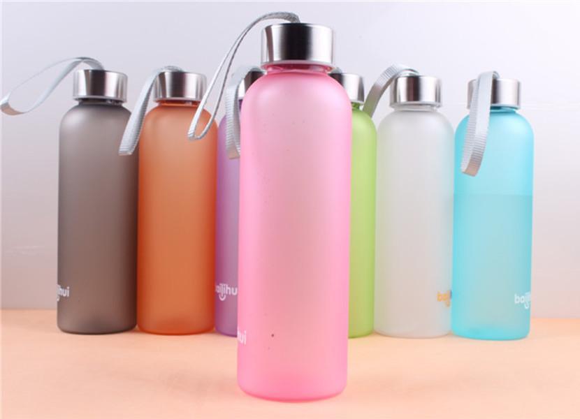 20 Unzen-Süßigkeit-Farben-mattierter Trinkflaschen Blatt-Proof PC Cups Coffee Tumblers Außen Trinkflaschen Multi Color A11