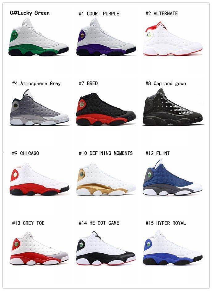 Nuovo 13 scarpe da basket Air Uomo Donna 13s Flints Grey Toe He got game storia del volo Hyper Reale Bred Black Cat Sneakers