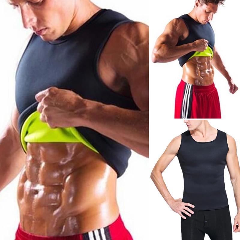 Belly Dropshipping Slimming Belt Homens Emagrecimento Vest Shaper Corpo Neoprene Abdomen Fat Burning Shapewear cintura Sweat Corset556