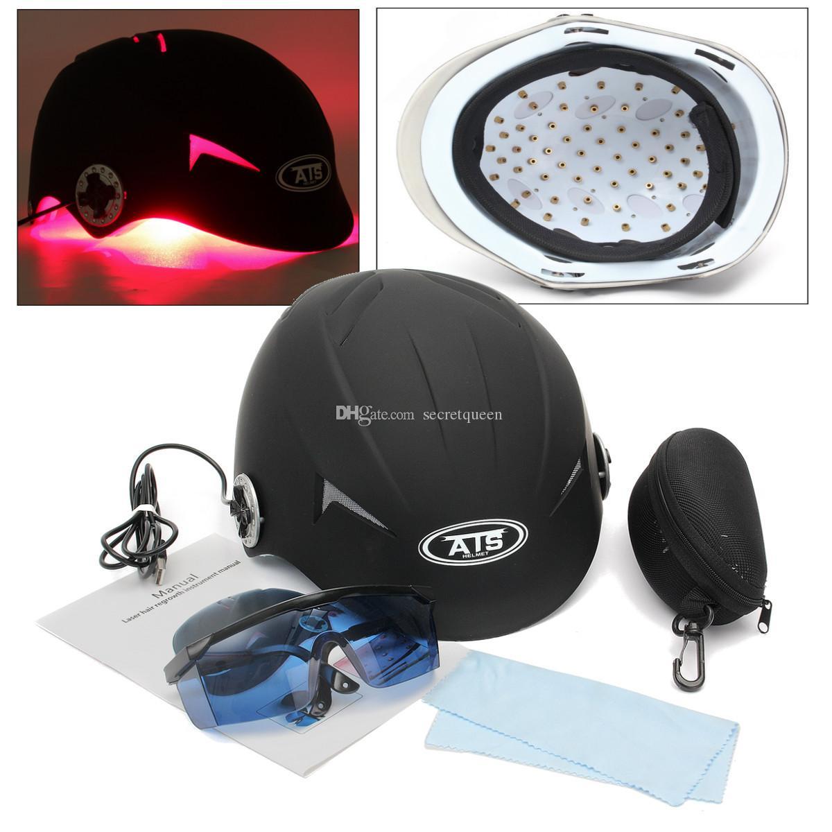 최신 핫 판매 휴대용 탈모 제품 가정용 헤어 재성장을위한 68 다이오드가있는 레이저 머리 성장 모자를 사용하십시오. 무료 배송