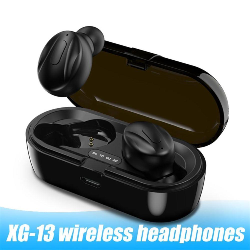 XG-13 TWS Bluetooth 5.0 Беспроводная наушники-вкладыши стерео наушники шумоподавление Спорт наушники для Android телефона В Retail Box