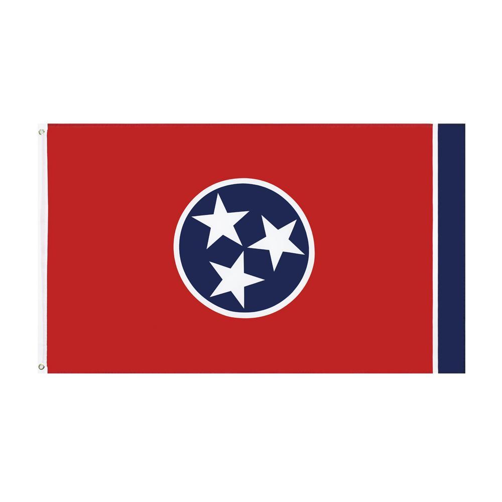 Tennessee bayrağı freeshipping doğrudan fabrika toptan 3x5fts 90x150 cm Gönüllü Devlet Afiş ABD Kapalı Açık Asılı Dekorasyon için