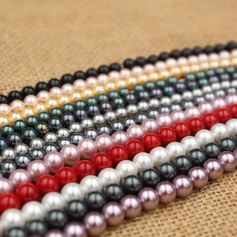 VRuyH naturelles perles en vrac accessoires de bricolage bijoux faits à la main coquille couleur trou droit perles perles perles perles Diy