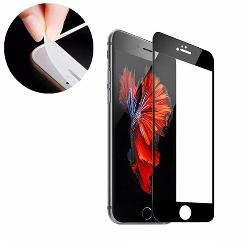 Protetor de Tela macia borda de vidro temperado para iPhone 12 11 Pro Max Tela Cell Phone protecção de vidro Película para iPhone XR XS 7 8 Plus SE